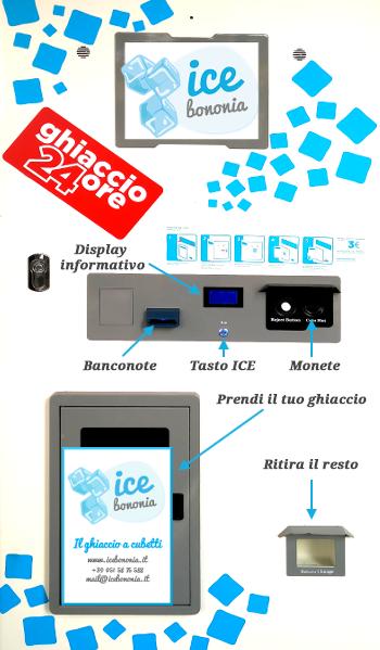 La macchina per il ghiaccio di ICE BONONIA